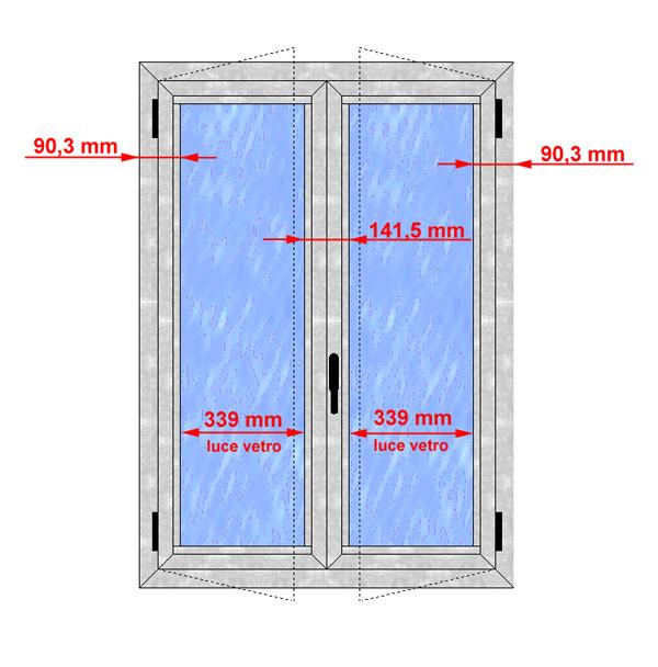 Finestra alluminio taglio termico alto isolamento - Altezza parapetto finestra ...