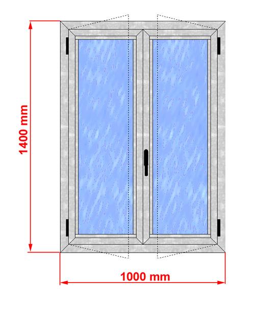 Finestra alluminio taglio termico alto isolamento - Misure porta finestra ...