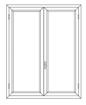 Finestra alluminio taglio termico alto isolamento - Larghezza porta finestra ...