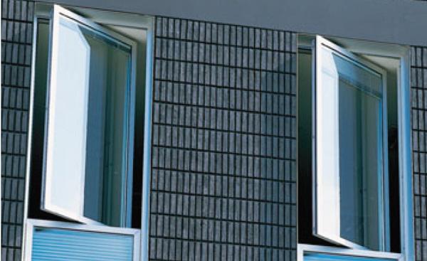 Wicona 75 serie a bilico orrizzontale e verticale for Finestre a bilico verticale