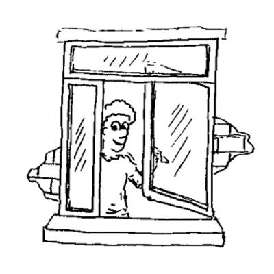 Finestre produzione finestre ad anta for Disegno finestra con persiane