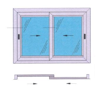 Finestre scorrevoli produzione finestre alluminio pvc - Dimensioni finestre scorrevoli ...
