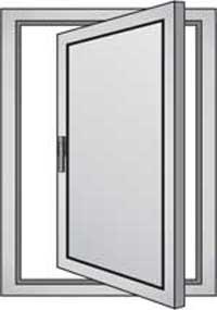 Finestre persiane alluminio e pvc due ante un 39 anta tre for Finestre a bilico verticale