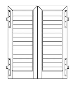 Finestre persiane alluminio e pvc due ante un 39 anta tre for Disegno finestra con persiane