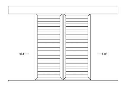 Cabine armadio dwg ascensore disabili dwg doccia dwg for Porte scorrevoli dwg
