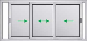 Finestre persiane alluminio e pvc due ante un 39 anta tre - Un antica finestra a tre aperture ...
